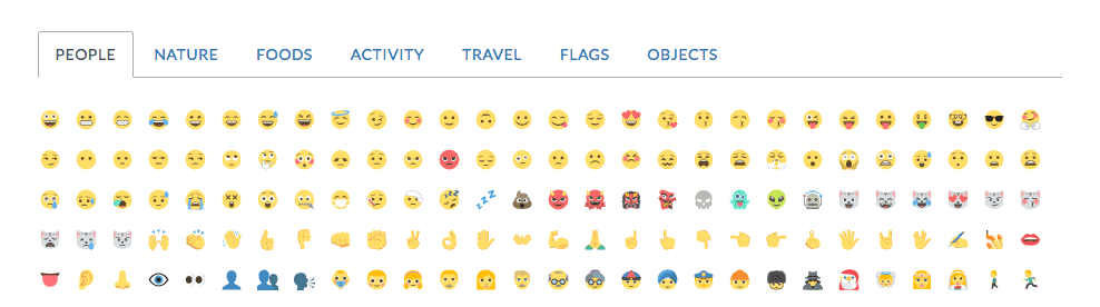 Emoji in Status Hero